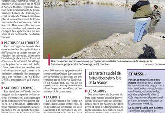 Conseil Municipal des Saintes Maries: des engagements qui sauvent le Parc de Camargue