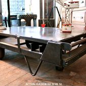 Table basse (CHARIOT POSTAL)
