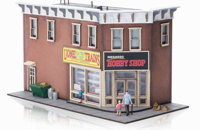 La boutique HOBBY SHOP et le wagon COVERED HOPPER échelle O de chez MENARDS