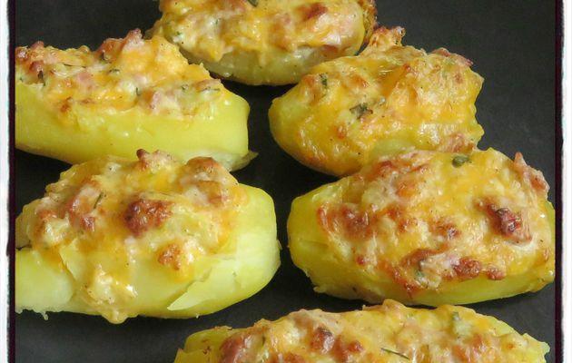 Pommes de terre jambon cheddar