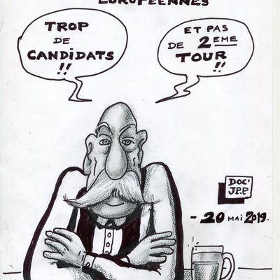 ELECTIONS EUROPEENNES 2019 (Dessin du 20 mai 2019. Version originale en noir et blanc)