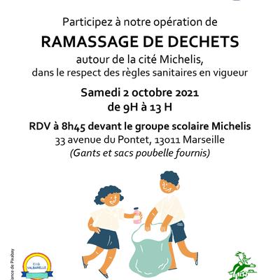 Opération ramassage de déchets le 2 octobre 2021