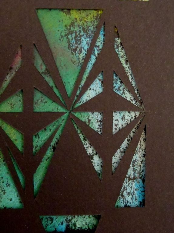 Diamond - Dry pastel and papercut