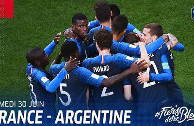 [Sam 30 Juin] Coupe du Monde 2018 (1/8ème) France / Argentine (16h00) en direct sur TF1 et beIN1 !