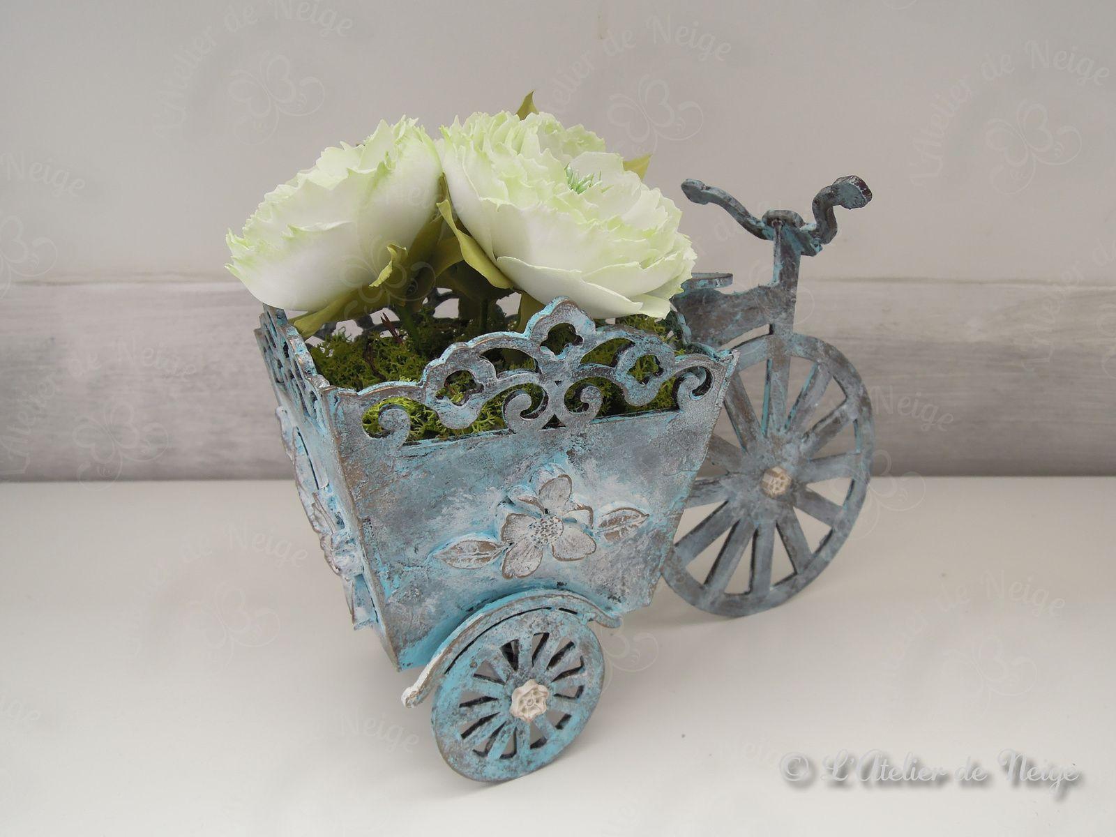 486 - Bicyclette Vintage Pivoine Blanche Brigitte 25 juin 2021