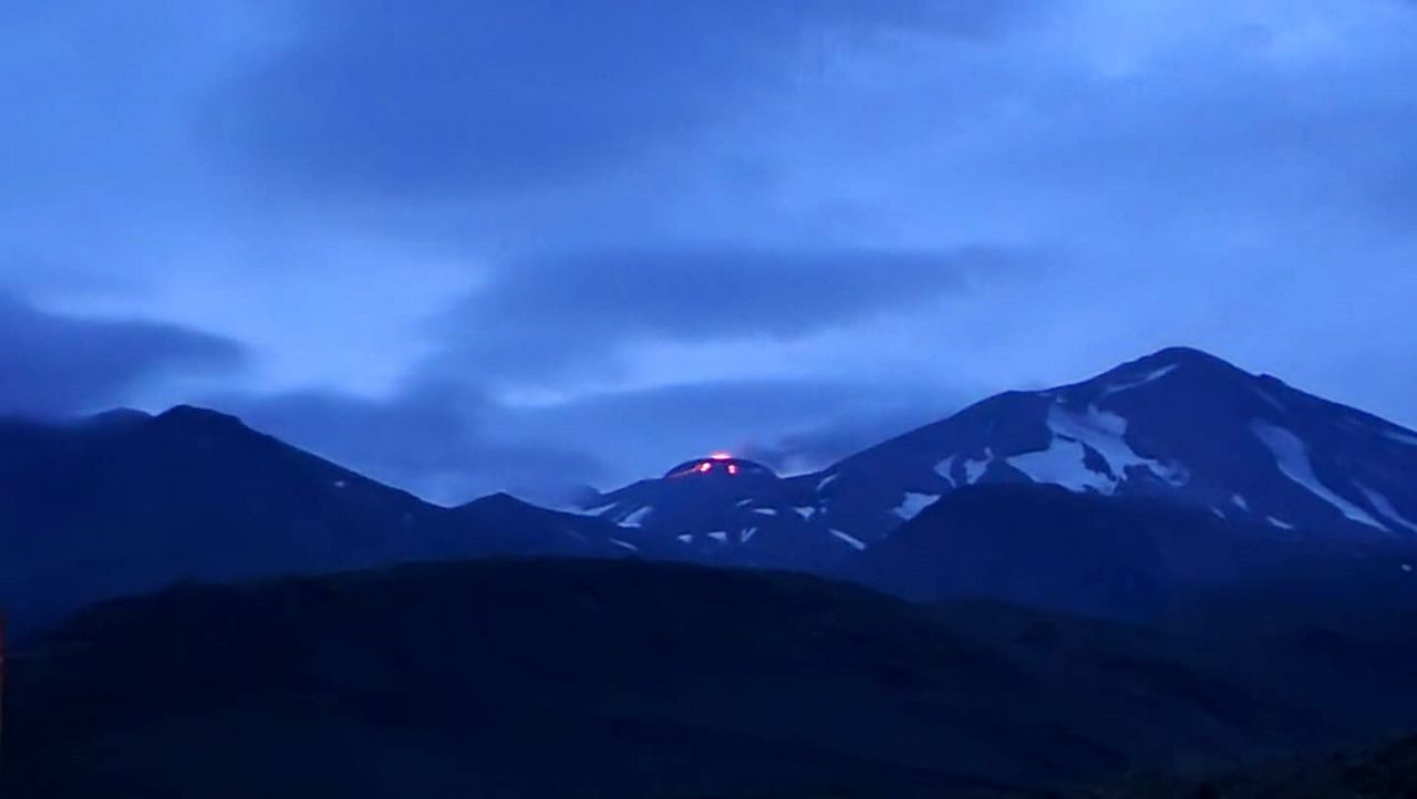 Great Sitkin lava dome - photo 06.08.2021 Alexander Chamberlin via AVO
