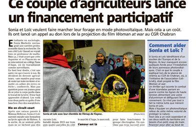 Financement participatif pour Sonia et Loïc, un jeune couple de maraîchers récemment installés à Aups