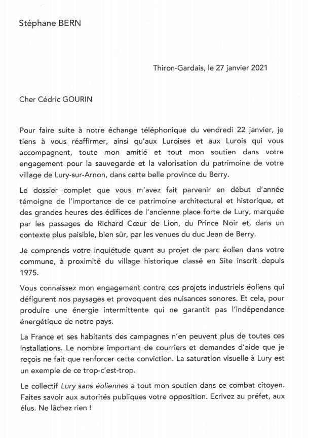 Stéphane Bern soutient les anti-éoliens de Lury-sur-Arnon