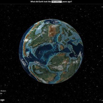 A quoi ressemblait la planète terre il y a des millions d'années ? Recherche ta ville dans ce google earth du passé