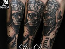 King Skeleton Tattoo