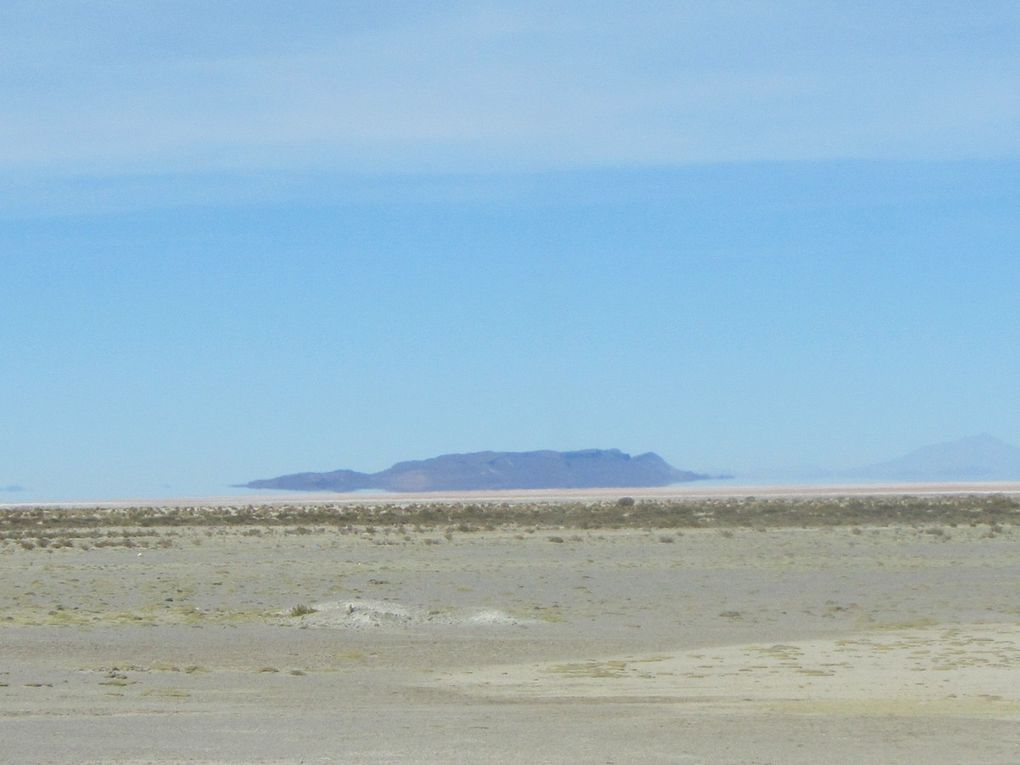 Incahuasi, salar, cimetière de trains......à vapeur, Uyuni l'après midi , André et sa plaque puis dernier repas en Bolivie du lama grillé