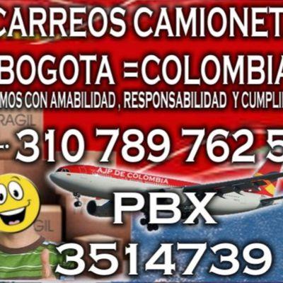Acarreos pequeños Bogota WhatsApp 3107897625