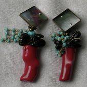 Boucles d'oreille / Bijoux de créateur Paris / Simone d'AVRAY - simonedavraybijoux.com