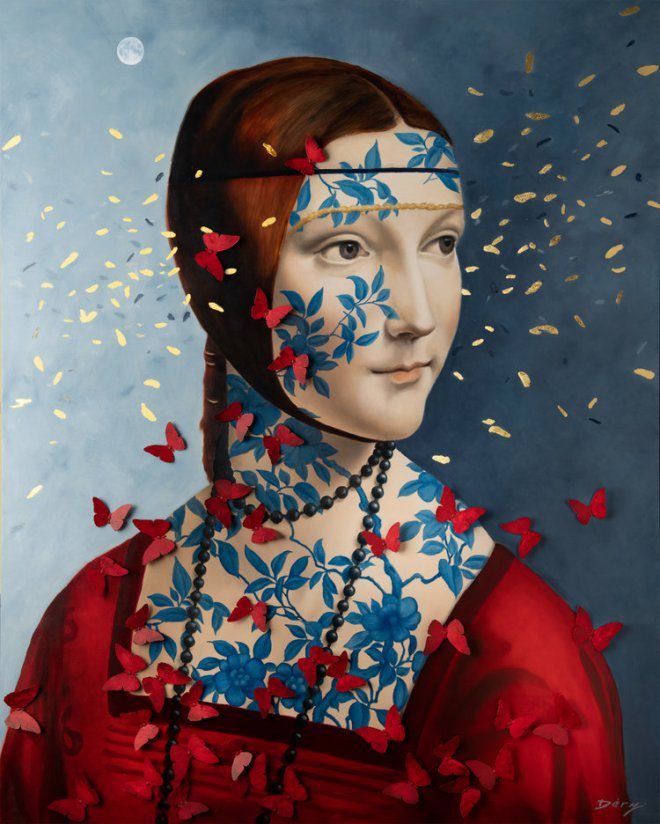 Lady Cecilia with Butterflies - Serge Déry
