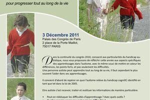 Journée nationale d'Autisme France - 3 décembre 2011