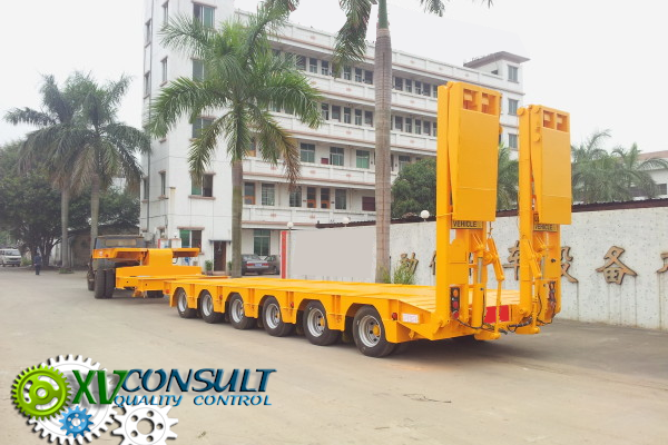 1/ Porte Engins TP Extensible 6 Essieux Directionnels Hydrauliques Chine - Semi Trailers Lowbed  6 axles China - Semi Trailers Lowbed Africa - آلات البناء أنصاف المقطورات ا