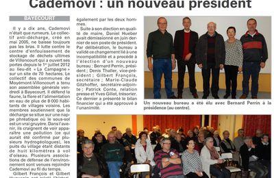 Cademovi : un nouveau président (Vosges Matin)