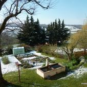 Saupoudrage de neige sur Montfalcon...