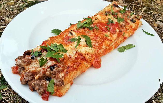 Enchiladas au boeuf et sauce rouge