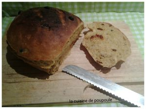 Pain au canneberges au Kitchenaid