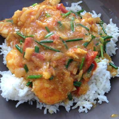Curry de Crevettes...