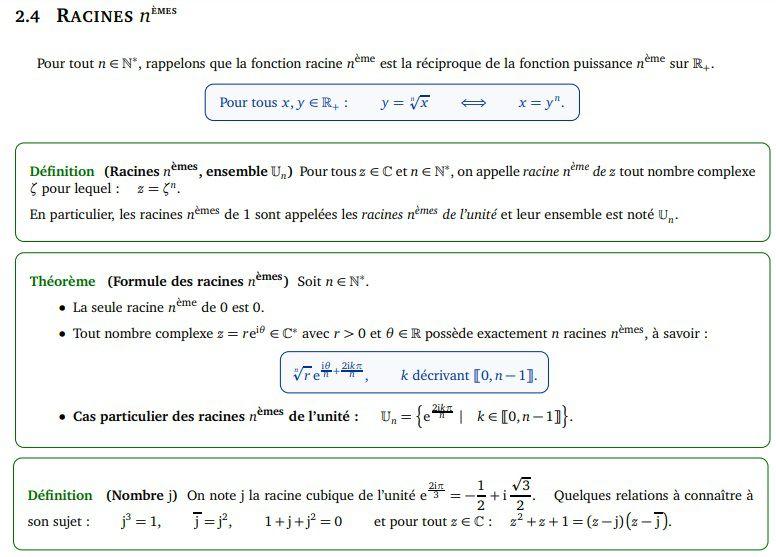 POST BAC - Nombres complexes