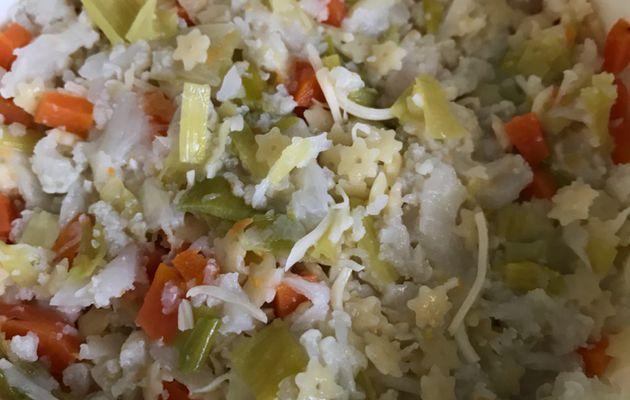 Souper bébé dès 12 mois - Chou fleur poireau carotte pâtes