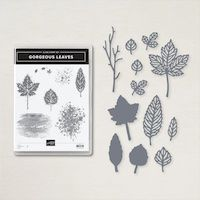 158609 lot Gorgeous Leaves stampin up feuille feuillage branche nature arbre automne