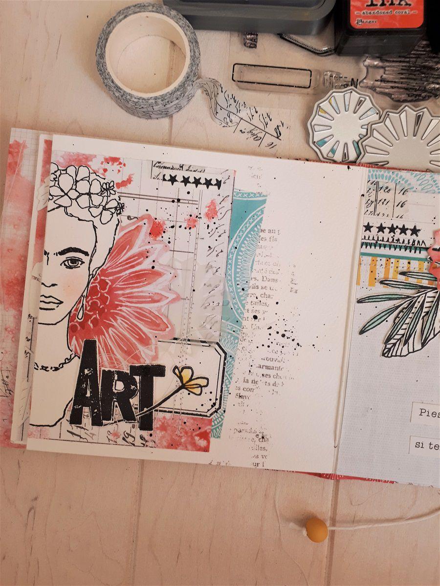Mini Frida Khalo  * DT L'Encre et l'Image / Ephéméria *