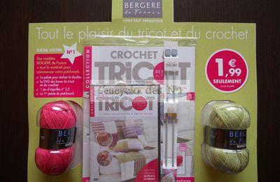 1,99 € seulement : Le magazine et le DVD du tricot et du crochet