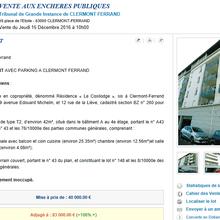 Un appartement T2 du COSILODGE de Clermont-Ferrand vendu aux enchères 83.000 €, au double de sa mise à prix