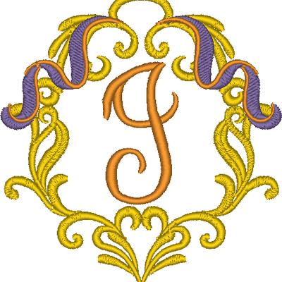 Cadre baroque la lettre I