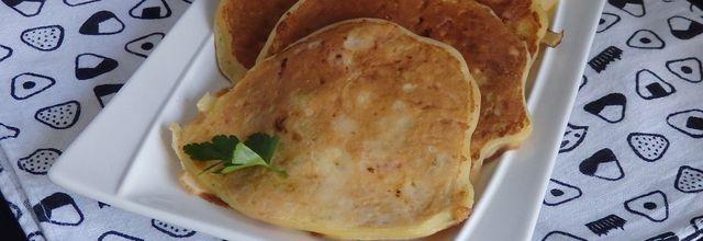 Pancakes salés jambon poireaux