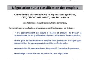 Classification : Appel Intersyndical à la grève