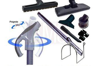 Flexible pour l'aspiration centralisée + tube + brosses TOUTES MARQUES