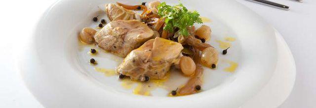 Baluchon de foie gras en cocotte de légumes au floc de Gascogne : invitée de la Comtesse du Barry