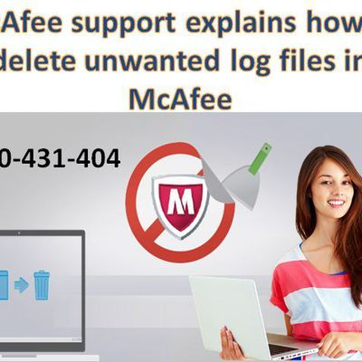 McAfee support explains how to delete unwanted log files in McAfee