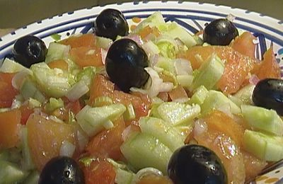 salade tomate-concombre-fenouil