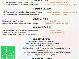 Restauration Suite : l'auberge de Jeanne et ses menus pendant le festival