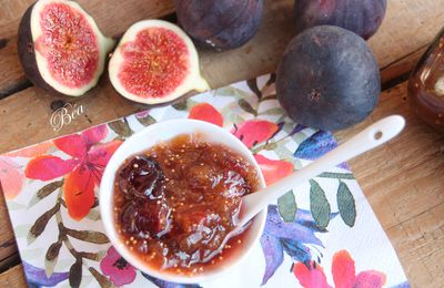 Confiture rhubarbe figues