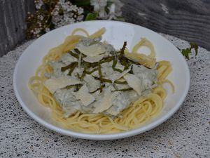 Spaghetti aux asperges sauvages