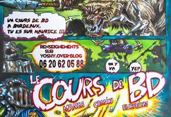 Cours de BD manga, comics, franco-belge a Bordeaux pour ados