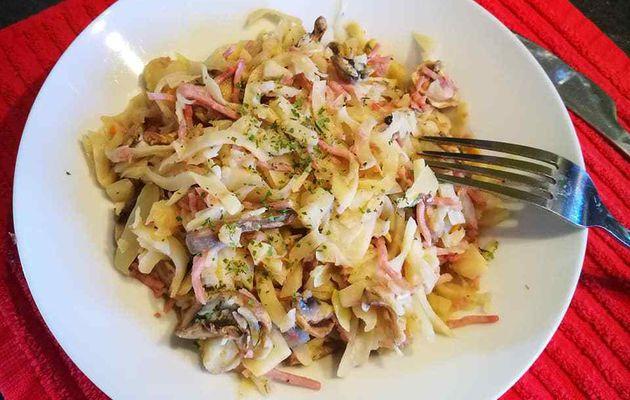Céleri au jambon et champignons