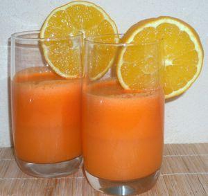 Jus de carotte, orange gingembre frais