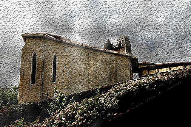 Diaporama église fortifiée de Saint Laurent de Gosse