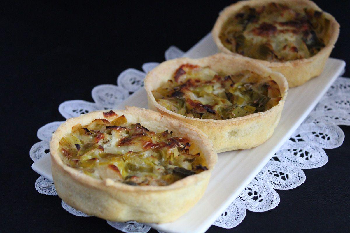 Tartelettes aux poireaux et Saint Félicien