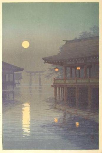 """Yuhan Ito (1882-1951) fait parti du mouvement Shin-Hanga, qui signifie """"nouveaux tableaux"""", soit la nouvelle vague de l'art japonais.  il a peint de nombreux paysages, où l'absence de figure humaine rajoute à l'esprit paisibl"""