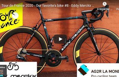 TDF 2020 : Le vélo de notre favori #8 -     Découvrez tous les vélos du Tour de France 2020, chaque jour nous vous présentons en vidéo le vélo de notre favori de l'étape.  Pour cette 8ème étape, voici le Eddy Merckx Stockeu69 du team AG2R La Mondiale utilisé par notre favori du jour : Romain Bardet. - (Vélo 101, le site officiel du Vélo ®)