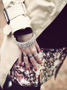 Trench Coat and Rings