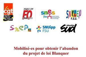 Les 30 mars et 4 avril : mobilisations pour obtenir le retrait du projet de loi Blanquer